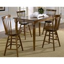 Liberty Furniture Creations II Copenhagen Barstool with Spindle Back