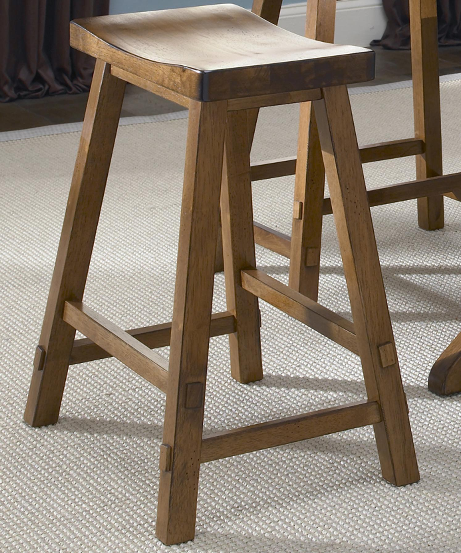 Liberty Furniture Creations II 30 Inch Sawhorse Barstool - Item Number: 38-B1830