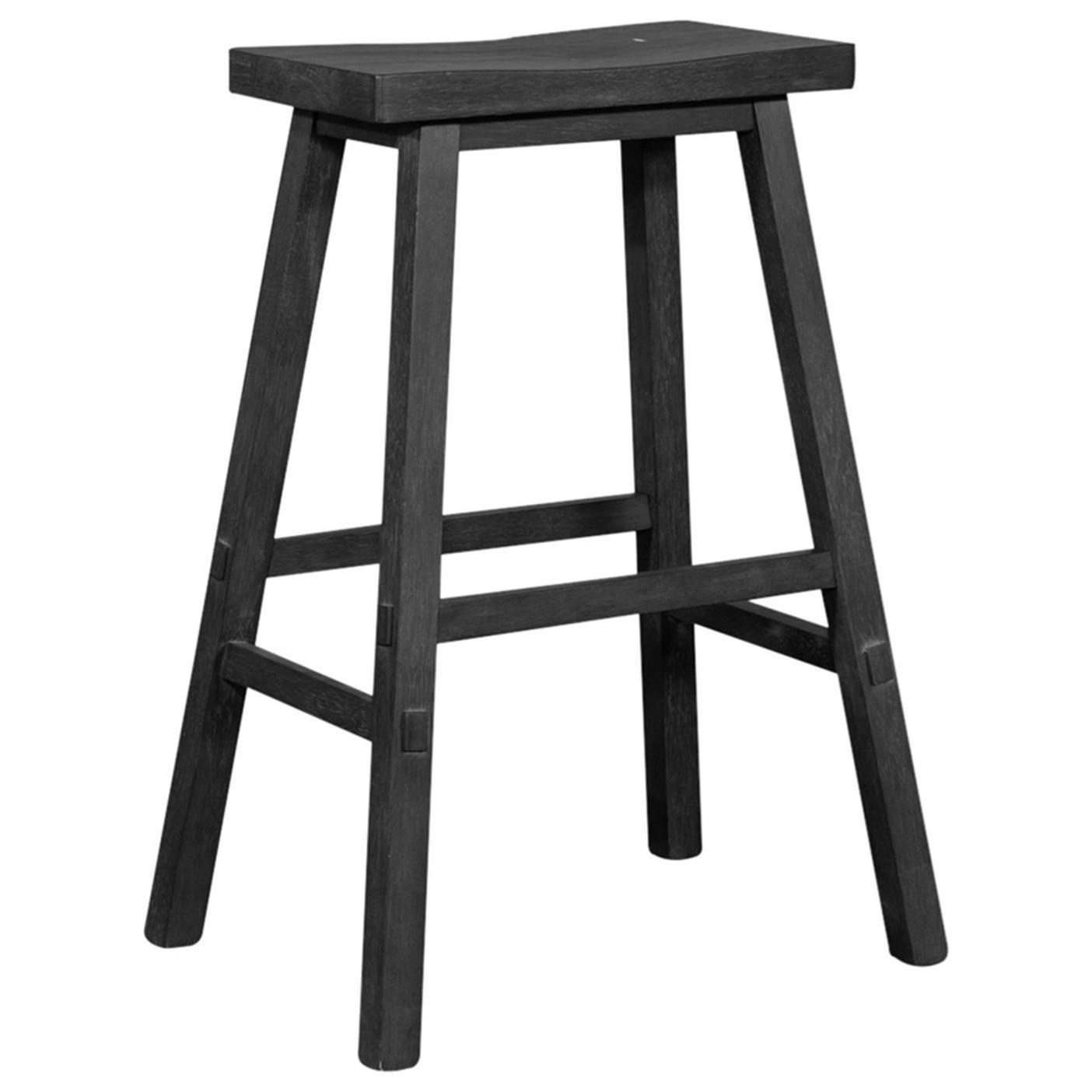 Creations II 30 Inch Sawhorse Barstool by Libby at Walker's Furniture
