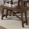 Liberty Furniture Creations II Wood Trestle Bench