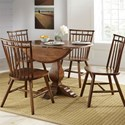 Liberty Furniture Creations II 5 Piece Dining Table and Chair Set - Item Number: 38-P4242+T4242+4xC4000S