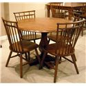 Liberty Furniture Creations II Drop Leaf Pedestal Table - Shown with Spindle Back Side Chairs