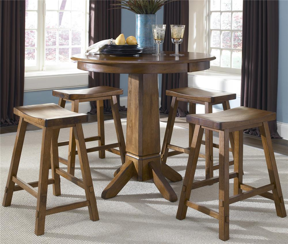 5 Piece Pub Table and Bar Stools