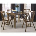Liberty Furniture Creations II 5 Piece Dinette Table and Chair Set - Item Number: 38-T200+4xC50