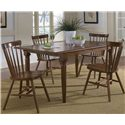 Liberty Furniture Creations II 5 Piece Table & Chair Set - Item Number: 38-T300+38-C50