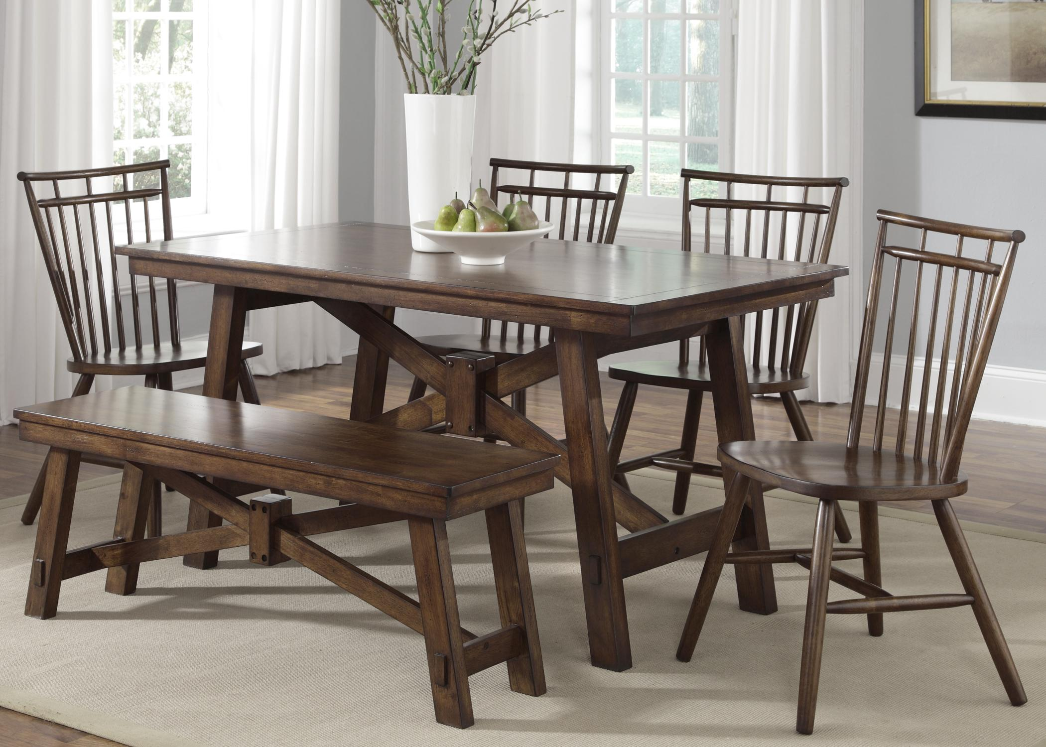 Liberty Furniture Creations II 6 Piece Table Set - Item Number: 38-T3260+1xB9000+4xC4000S