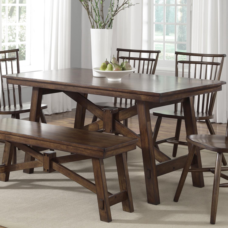 Liberty Furniture Creations II Rectangular Trestle Table - Item Number: 38-T3260