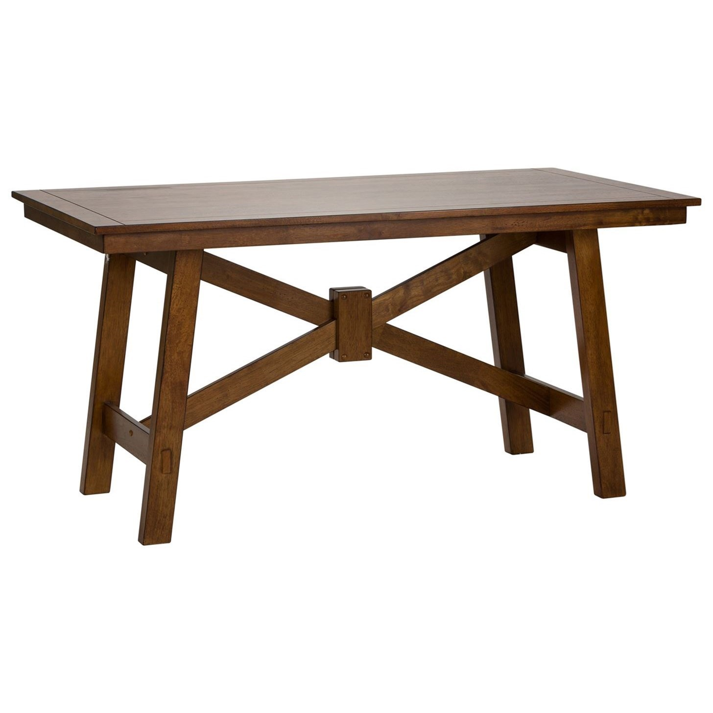 Creations II Rectangular Trestle Table by Libby at Walker's Furniture