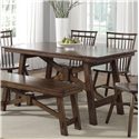 Liberty Furniture Creations II Rectangular Trestle Table - Item Number: 38-T3260
