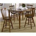 Vendor 5349 Creations II 5 Piece Gathering Table and Bar Stools - Item Number: 38-T5454+4xB1724
