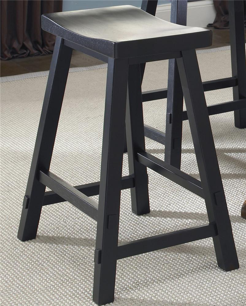 Liberty Furniture Creations II 24 Inch Sawhorse Barstool - Item Number: 48-B1824