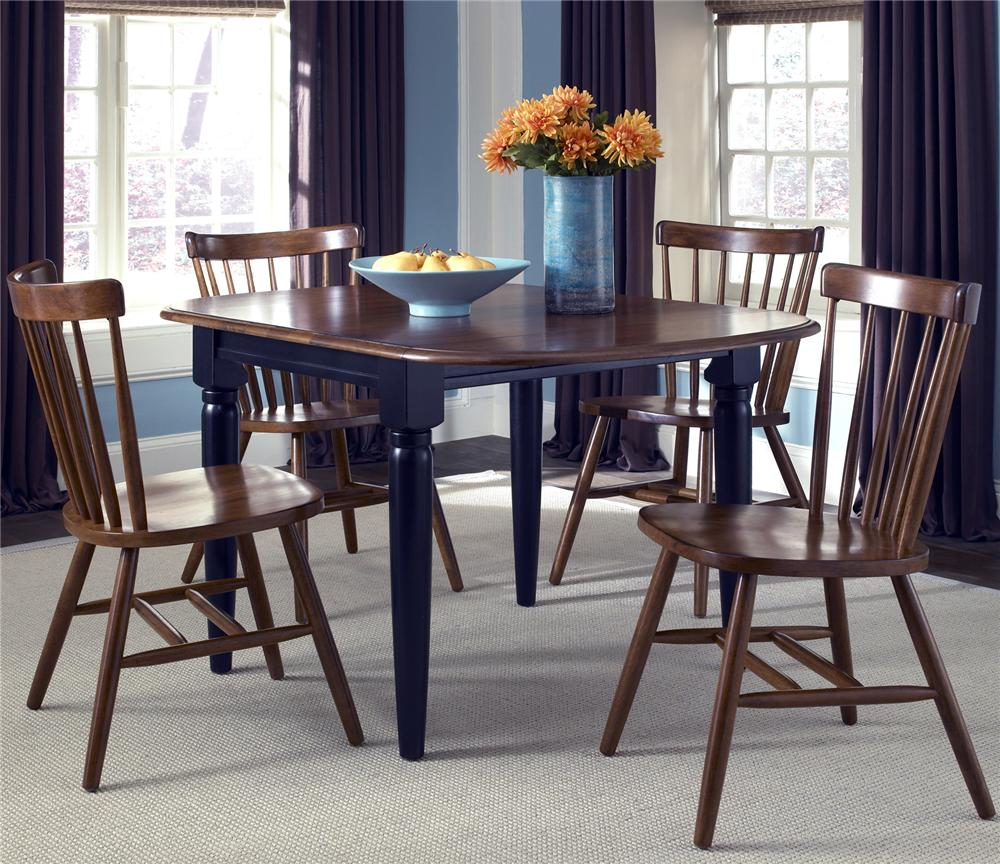 Liberty Furniture Creations II 5 Piece Dinette Table and Chair Set - Item Number: 48-T200+4xC50