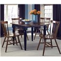 Vendor 5349 Creations II 5 Piece Dinette Table and Chair Set - Item Number: 48-T200+4xC50