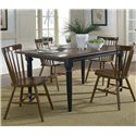Vendor 5349 Creations II 5 Piece Table & Chair Set - Item Number: 48-T300+38-C50