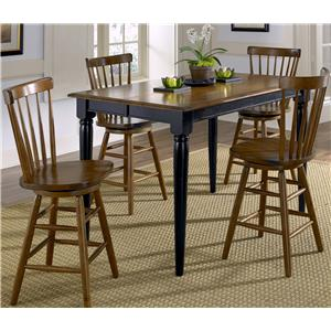 Vendor 5349 Creations II 5 Piece Gathering Table and Bar Stools