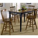 Liberty Furniture Creations II 5 Piece Gathering Table and Bar Stools - Item Number: 48-T5454+4xB1724