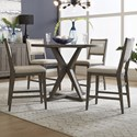 Liberty Furniture Crescent Creek 5-Piece Gathering Table Set - Item Number: 530-CD-5GTS