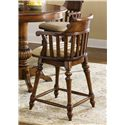 """Vendor 5349 Crystal Lakes 24"""" Swivel Counter Height Chair - Item Number: 97-B150124"""