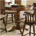 Liberty Furniture Crystal Lakes 5 Piece Pub Set with Round Pub Table & 2 Swivel Counter Height Chairs