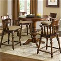 Liberty Furniture Crystal Lakes Round Pub Table with Pedestal Base - Shown with Swivel Counter Height Chair