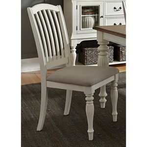 Vendor 5349 Cumberland Creek Dining Slat Back Side Chair