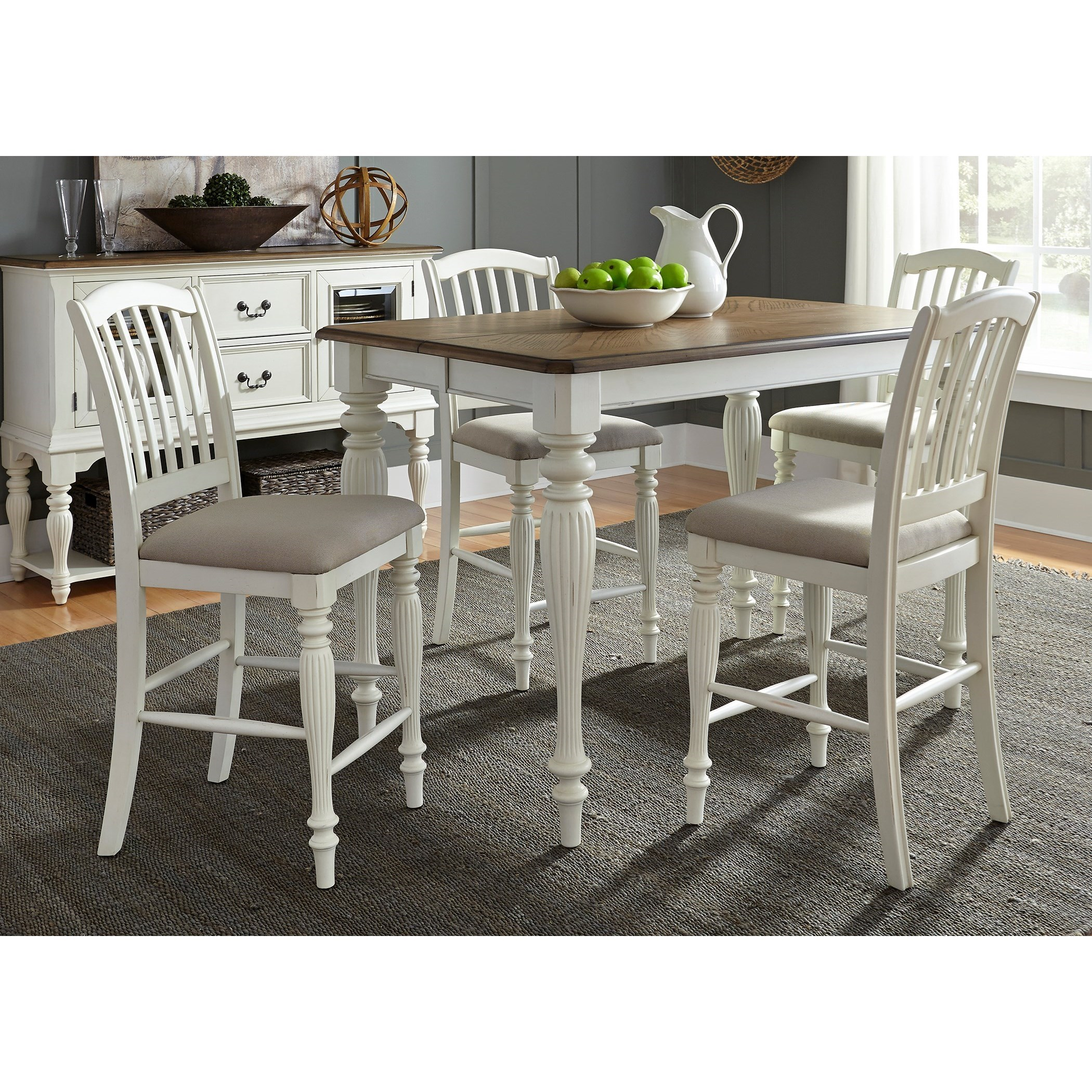 Liberty Furniture Cumberland Creek Dining 5 Piece Gathering Table Set  - Item Number: 334-CD-5GTS