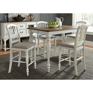 Vendor 5349 Cumberland Creek Dining 5 Piece Gathering Table Set