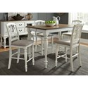 Liberty Furniture Cumberland Creek Dining 5 Piece Gathering Table Set  - Item Number: 334-CD-5GTS