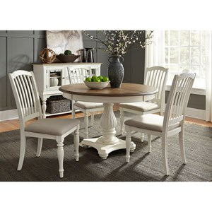 Vendor 5349 Cumberland Creek Dining 5 Piece Pedestal Table Set