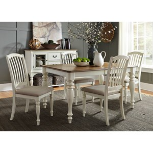 Vendor 5349 Cumberland Creek Dining 5 Piece Rectangular Table Set