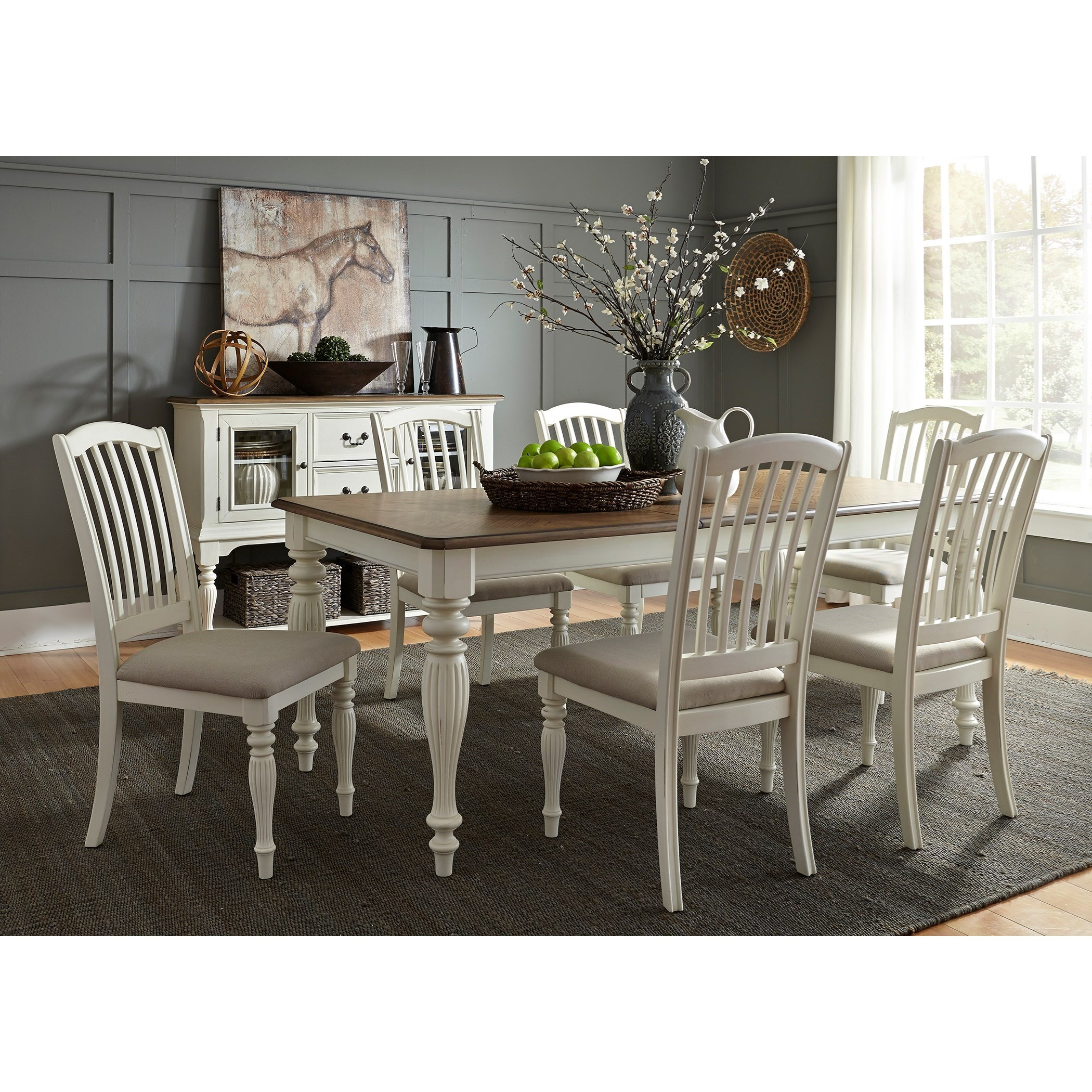 Cumberland Creek Dining 7 Piece Rectangular Table Set  by Libby at Walker's Furniture