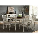 Liberty Furniture Cumberland Creek Dining 7 Piece Rectangular Table Set  - Item Number: 334-CD-7RLS