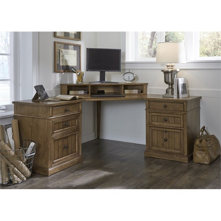 Liberty Furniture Cumberland Creek Corner Desk  - Item Number: 421-HO-COD