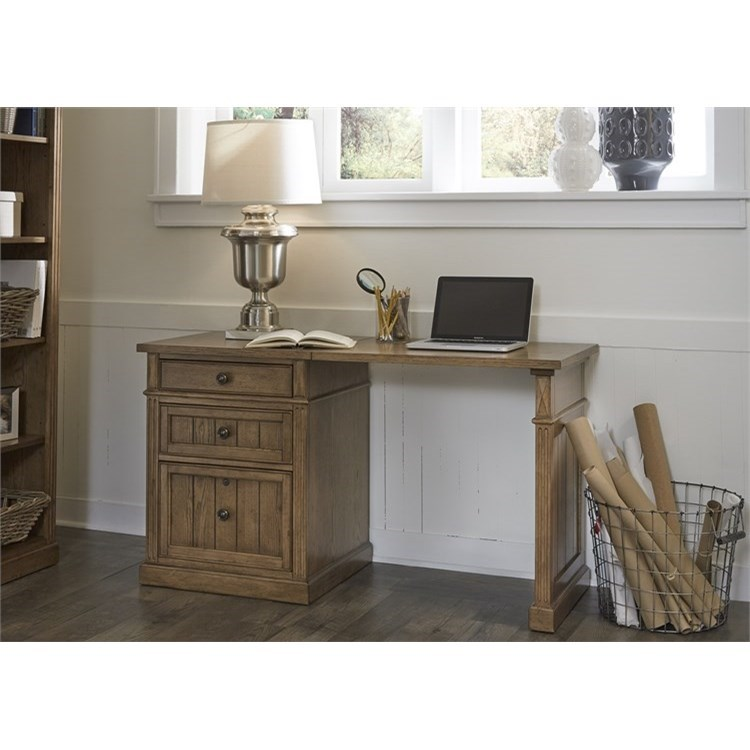Liberty Furniture Cumberland Creek Desk with File Cabinet - Item Number: 421-HO-DSK