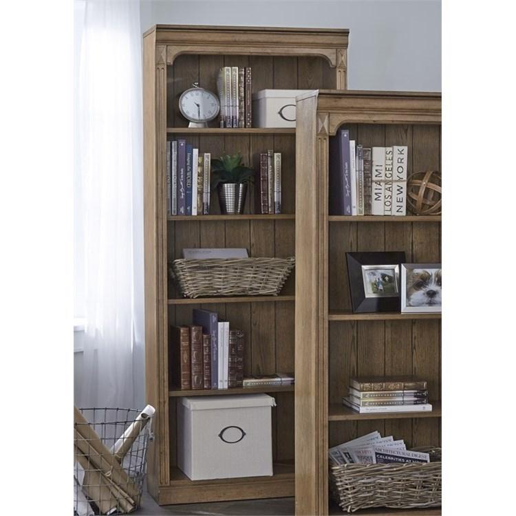 "Liberty Furniture Cumberland Creek 72"" Open Bookcase - Item Number: 421-HO3072"