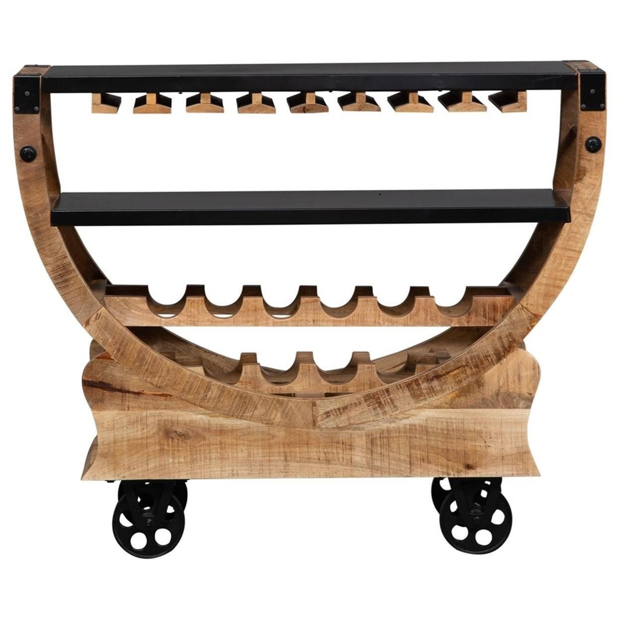 Danley Accent Bar Trolley by Libby at Walker's Furniture