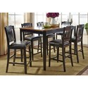 Liberty Furniture Devonwood 7 Piece Gathering Table Set - Item Number: 284-CD-7GTS