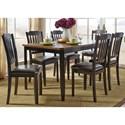 Liberty Furniture Devonwood 7 Piece Rectangular Table Set - Item Number: 284-CD-7RLS