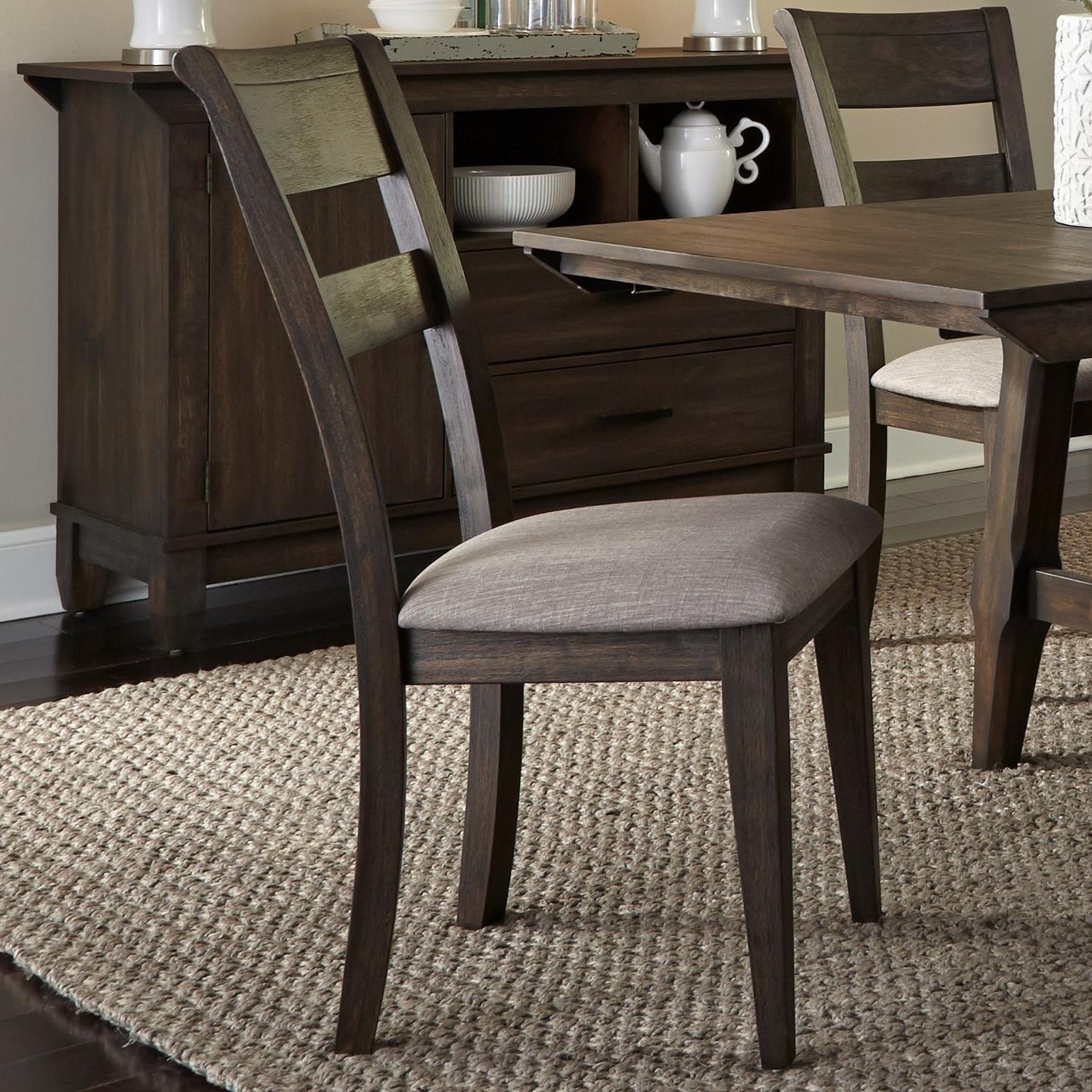 Liberty Furniture Double Bridge Splat Back Side Chair - Item Number: 152-C2501S