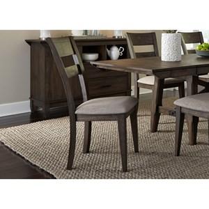 Liberty Furniture Double Bridge Splat Back Side Chair (RTA)