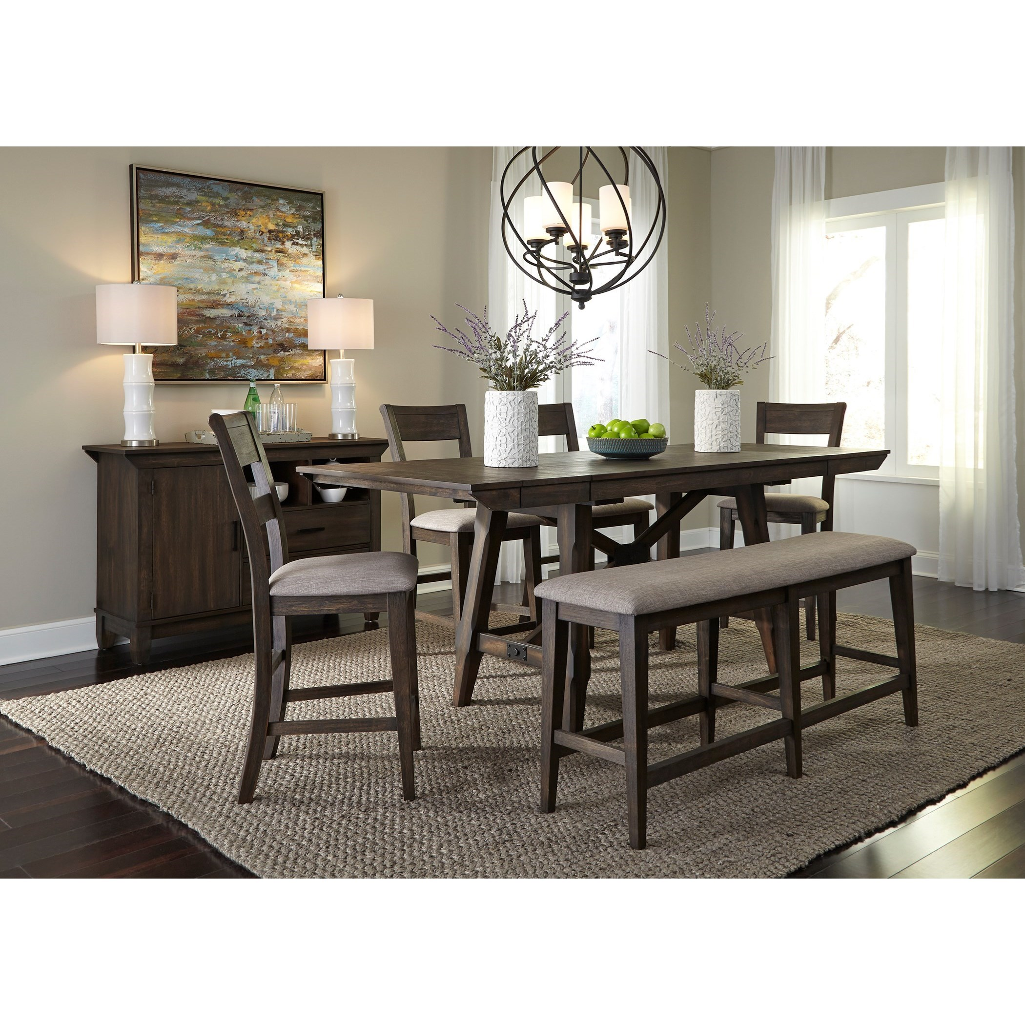 Double Bridge Dining Room Group by Liberty Furniture at Zak's Home