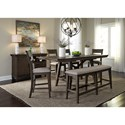 Liberty Furniture Double Bridge Dining Room Group - Item Number: 152-CD Dining Room Group 1