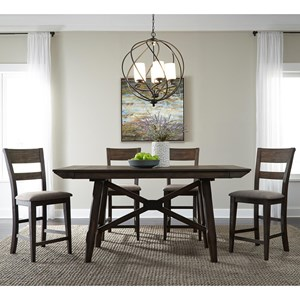 Liberty Furniture Double Bridge 5 Piece Gathering Table Set
