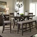 Liberty Furniture Double Bridge 6 Piece Gathering Table Set  - Item Number: 152-CD-6GTS