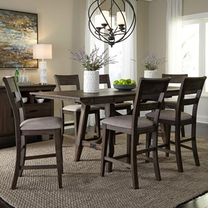 Liberty Furniture Double Bridge 7 Piece Gathering Table Set