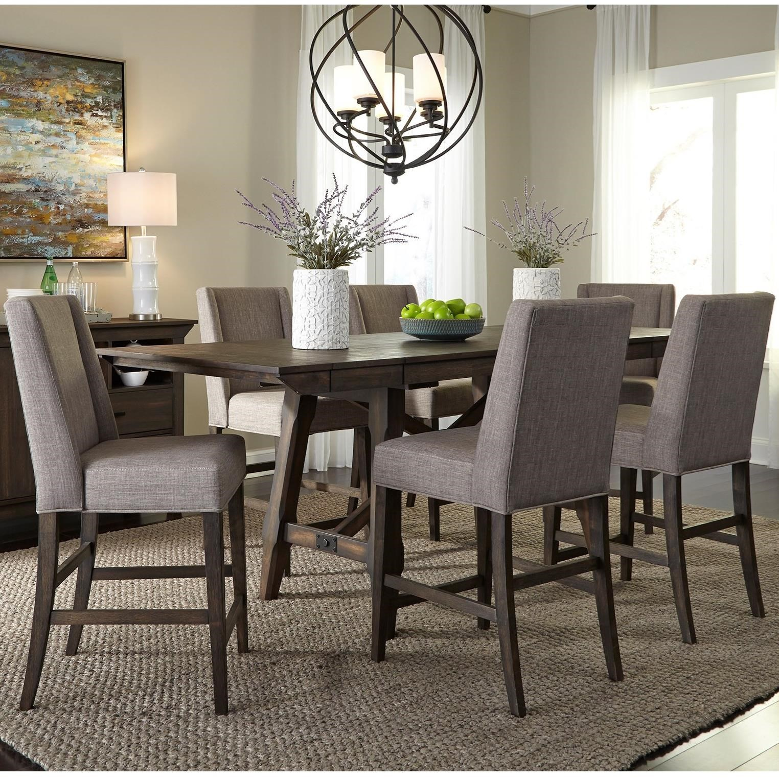 Double Bridge 7 Piece Gathering Table Set by Liberty Furniture at Zak's Home