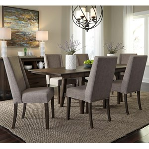 Liberty Furniture Double Bridge 7 Piece Trestle Table Set