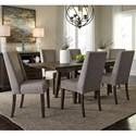 Liberty Furniture Double Bridge 7 Piece Trestle Table Set - Item Number: 152-CD-O7TRS