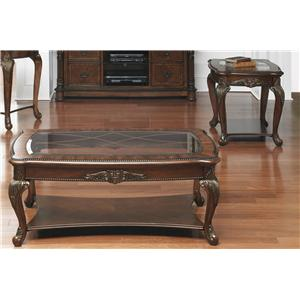 Vendor 5349 Eden Park 3 Piece Occasional Table Set