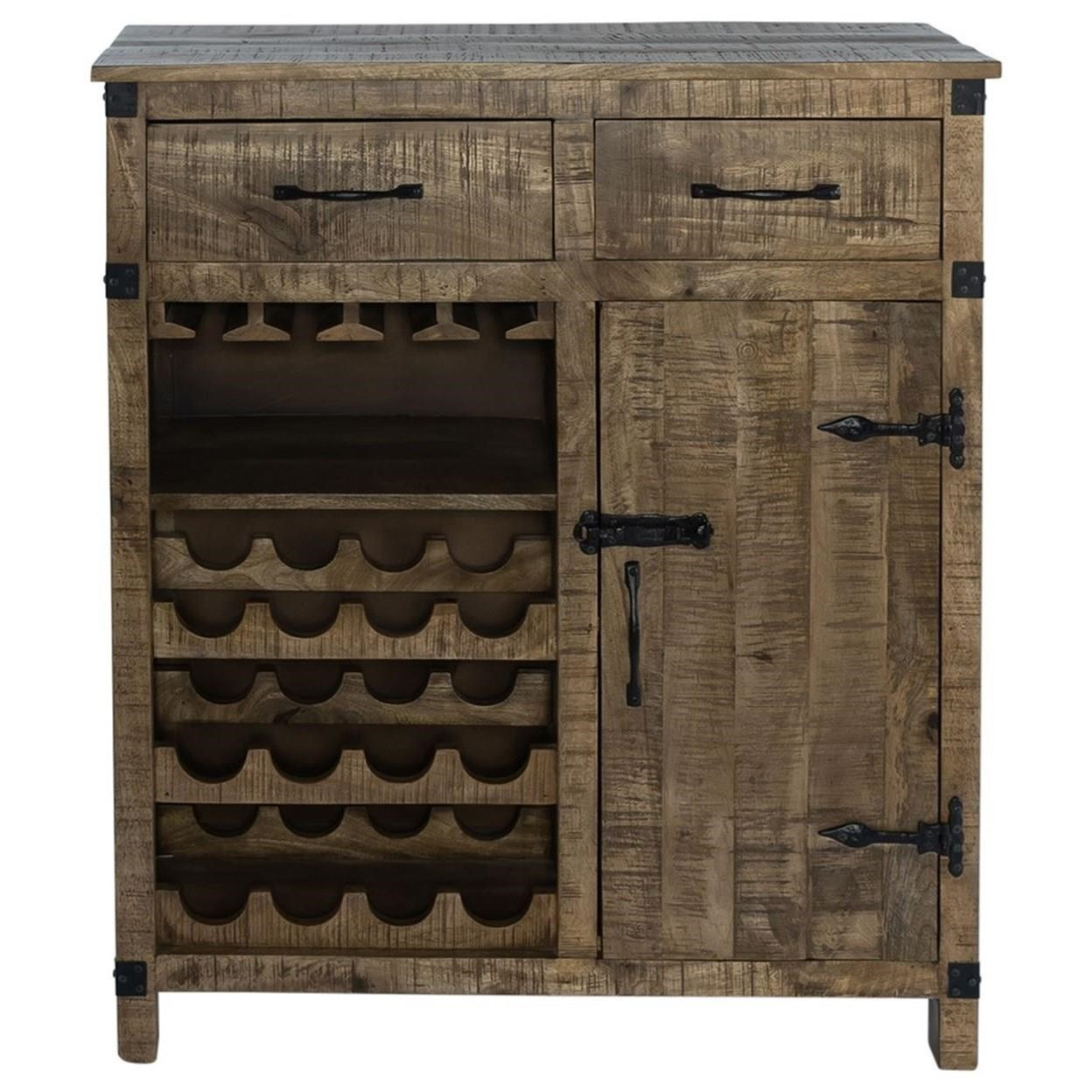 Emerson Wine Accent Cabinet by Libby at Walker's Furniture